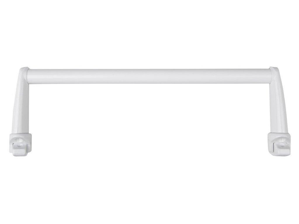 Sušák ručníků na otopná tělesa 43 cm oblý, bílá