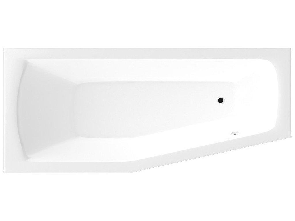 OPAVA vana 160x70x44cm bez nožiček, pravá, bílá
