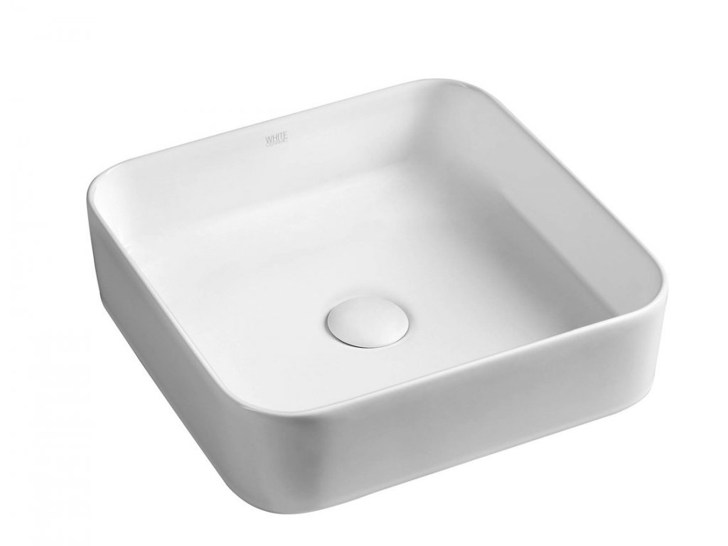 BLADE keramické umyvadlo 40x11,5x40 cm, na desku, bez přepadu