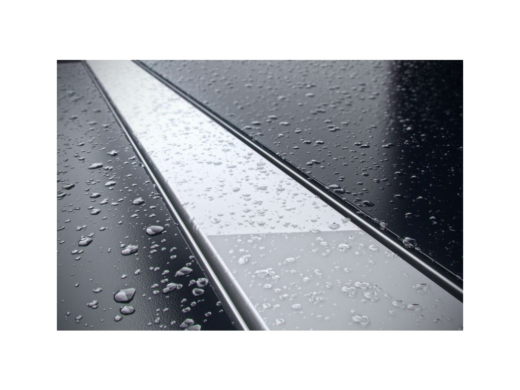 Sprchový odvodňovací žlab SET (nerez dno + sklo bílé + izolační manžeta 500 mm)