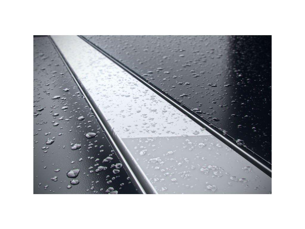 Sprchový odvodňovací žlab SET (nerez dno + sklo bílé + izolační manžeta)