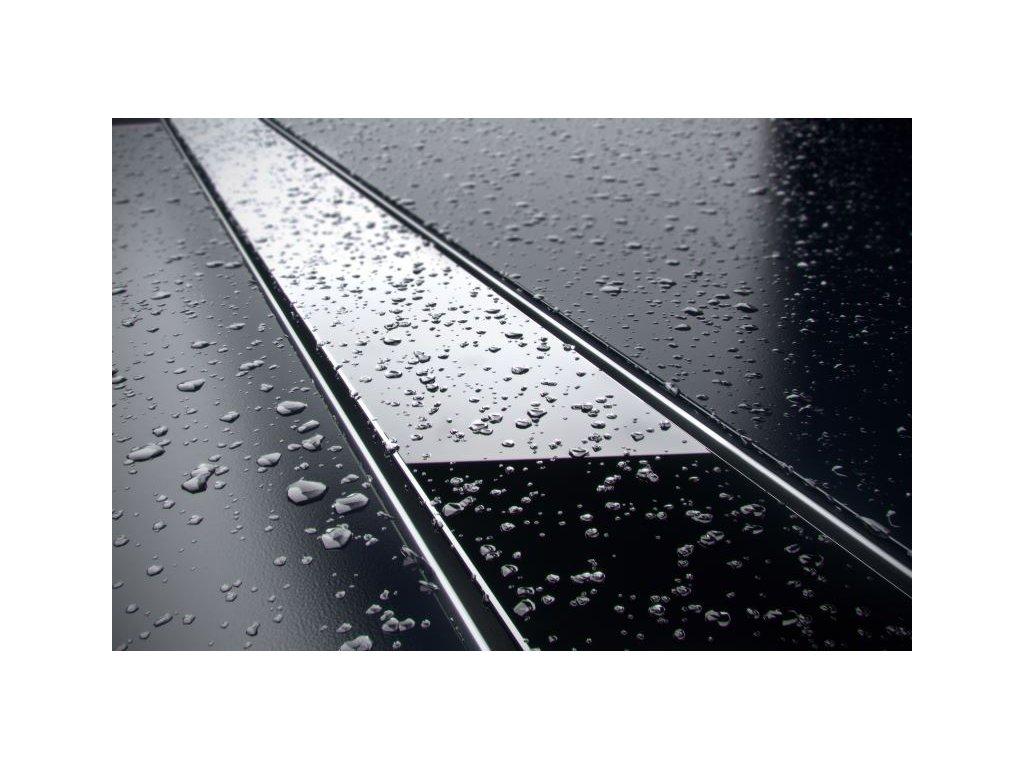 Sprchový odvodňovací žlab SET (nerez dno + sklo černé + izolační manžeta)