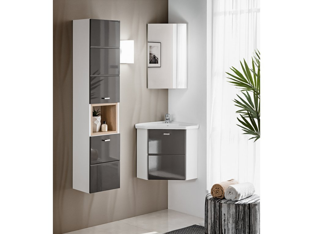 Finka Gray rohová koupelnová sestava