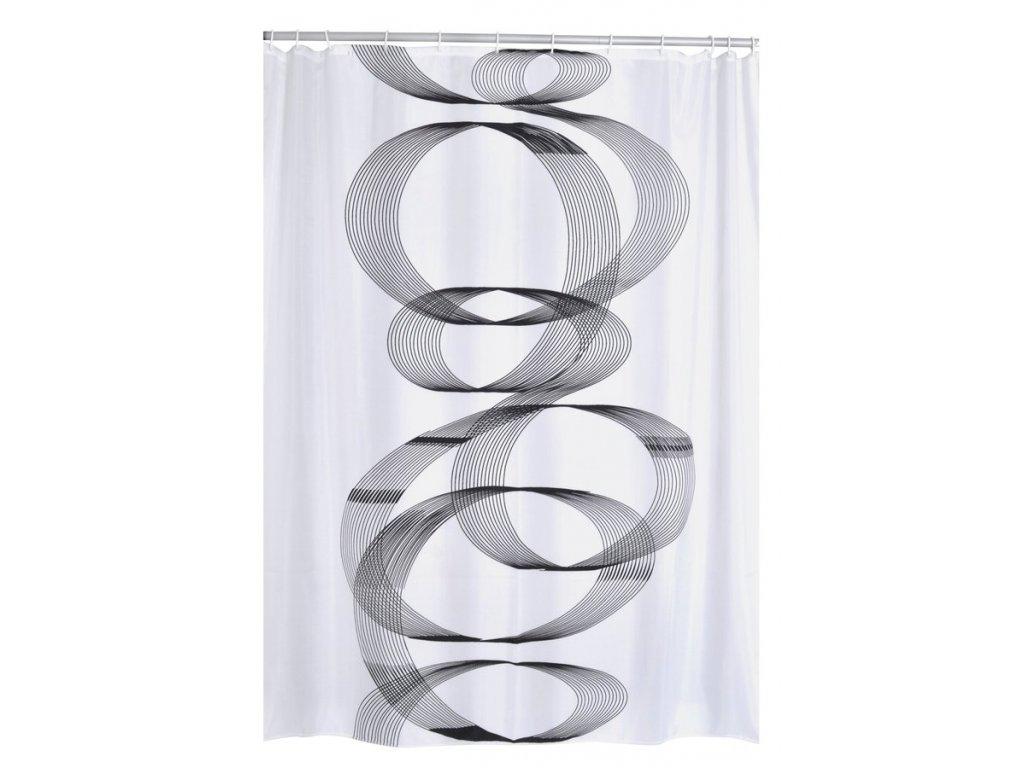 LOOP sprchový závěs 180x200cm, polyester, spirála