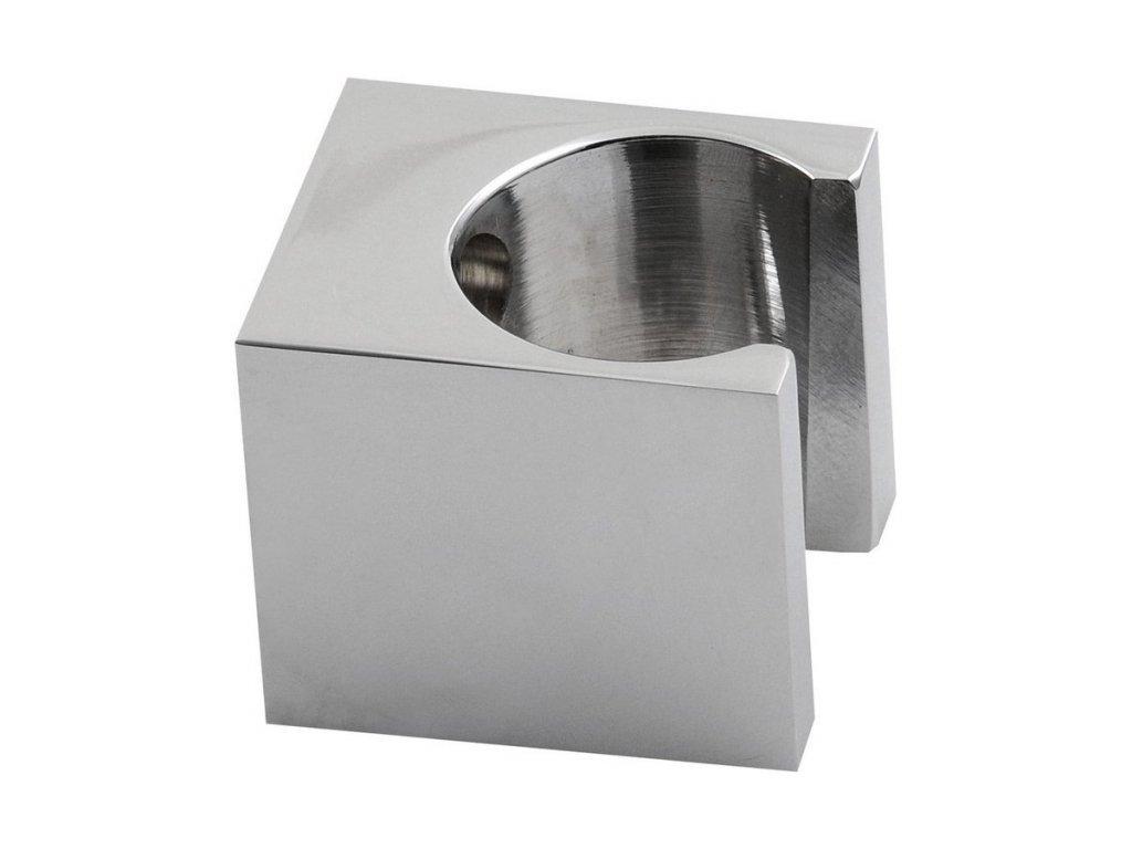 Držák sprchy hranatý, pevný, chrom