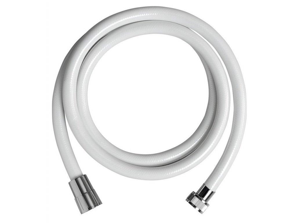 NOPEL plastová sprchová hadice, hladká, 150cm, bílá