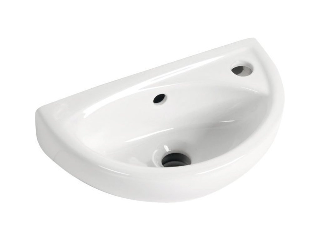 OVAL keramické umývátko 39x23cm