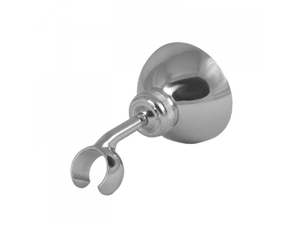 Držák sprchy polohovací retro, pochromovaná mosaz