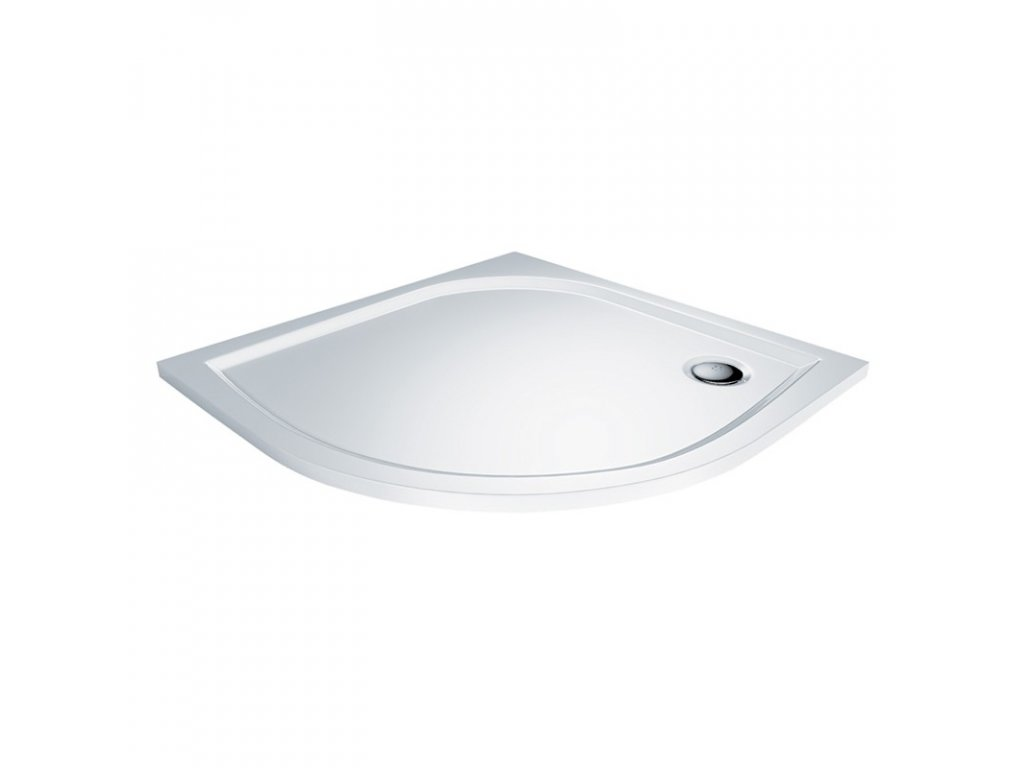 Čtvrtkruhová sprchová vanička, R550, bez nožiček, litý mramor