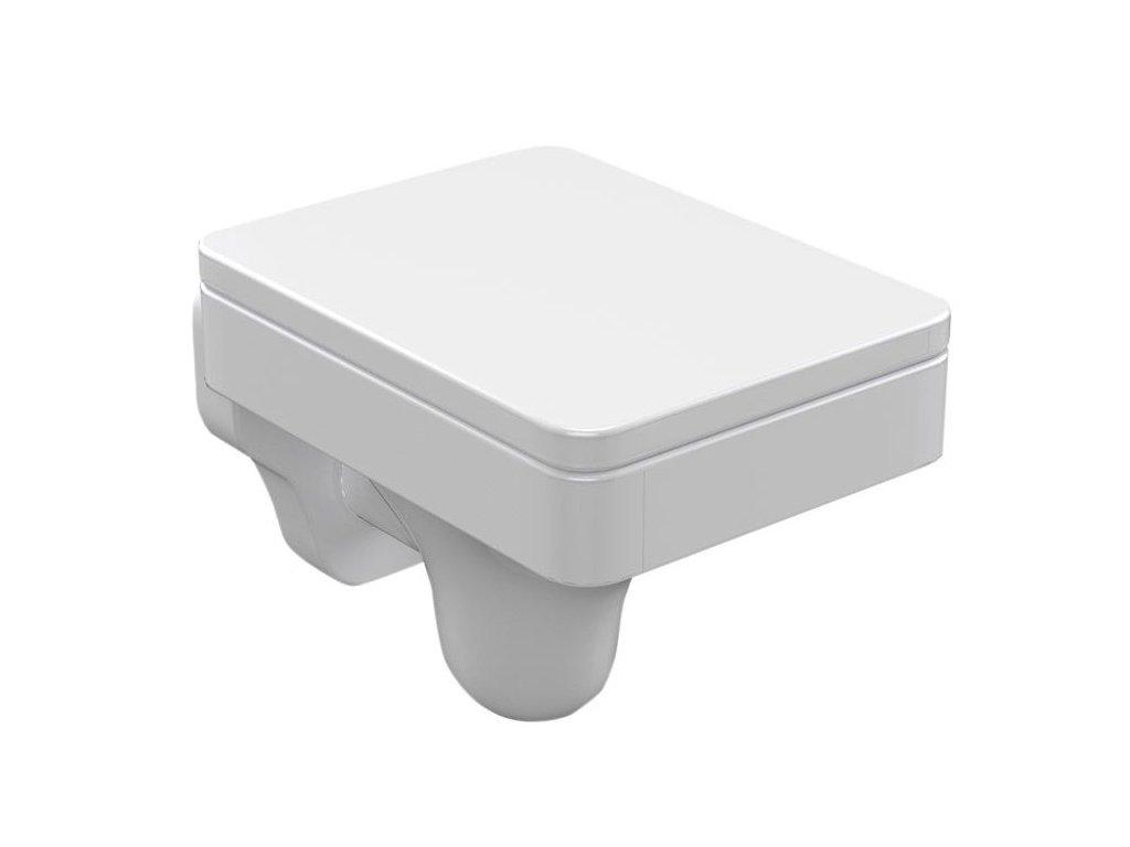 CENTO závěsná WC mísa, 36x50cm, bílá