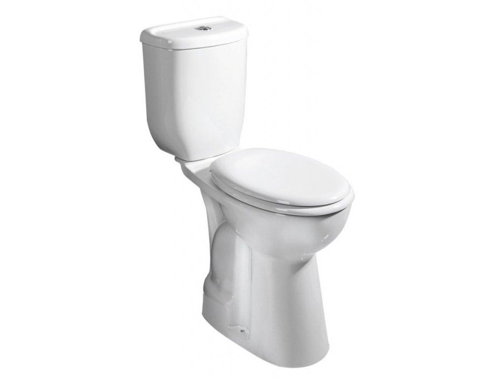 WC kombi zvýšené 36,3x67,2cm, spodní odpad