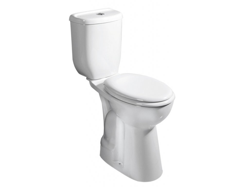 WC kombi zvýšený sedák, spodní odpad, bílá