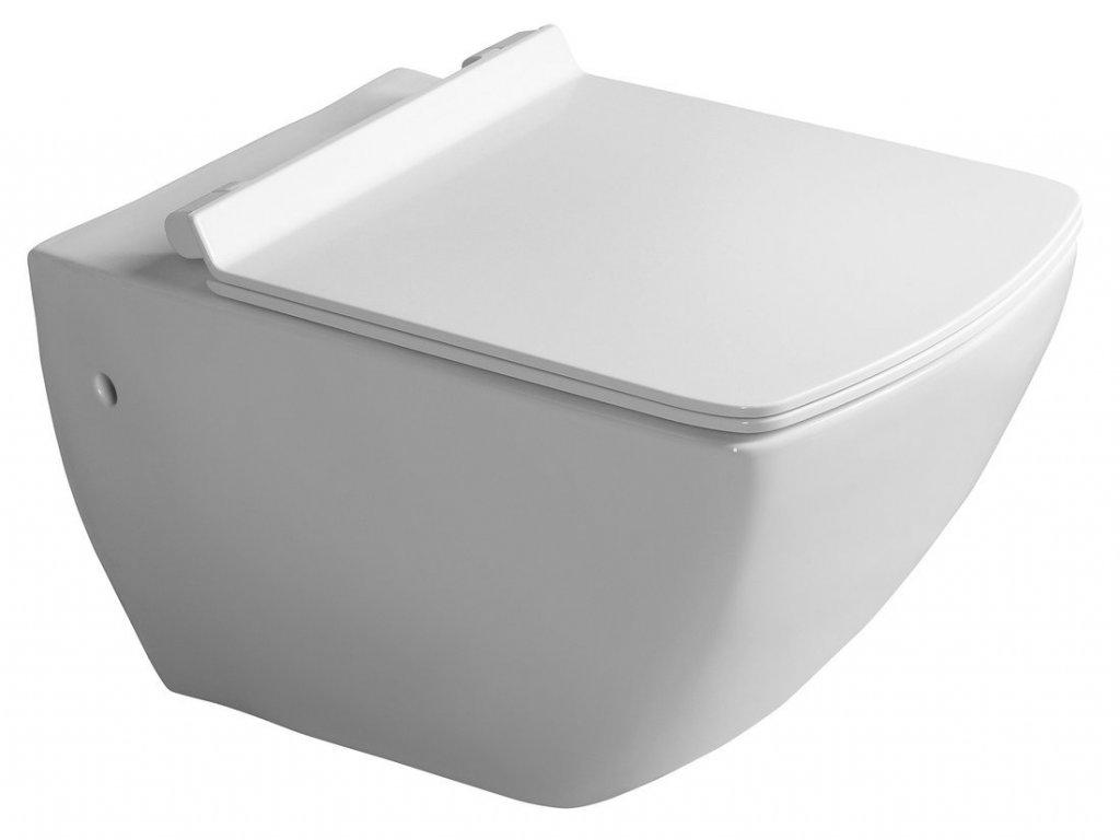PURITY závěsná WC mísa, 35x55,5cm, bílá