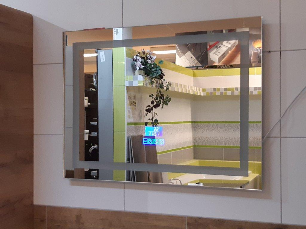 DIAMANT zrcadlo s LED osvětlením, hodinami a bluetooth