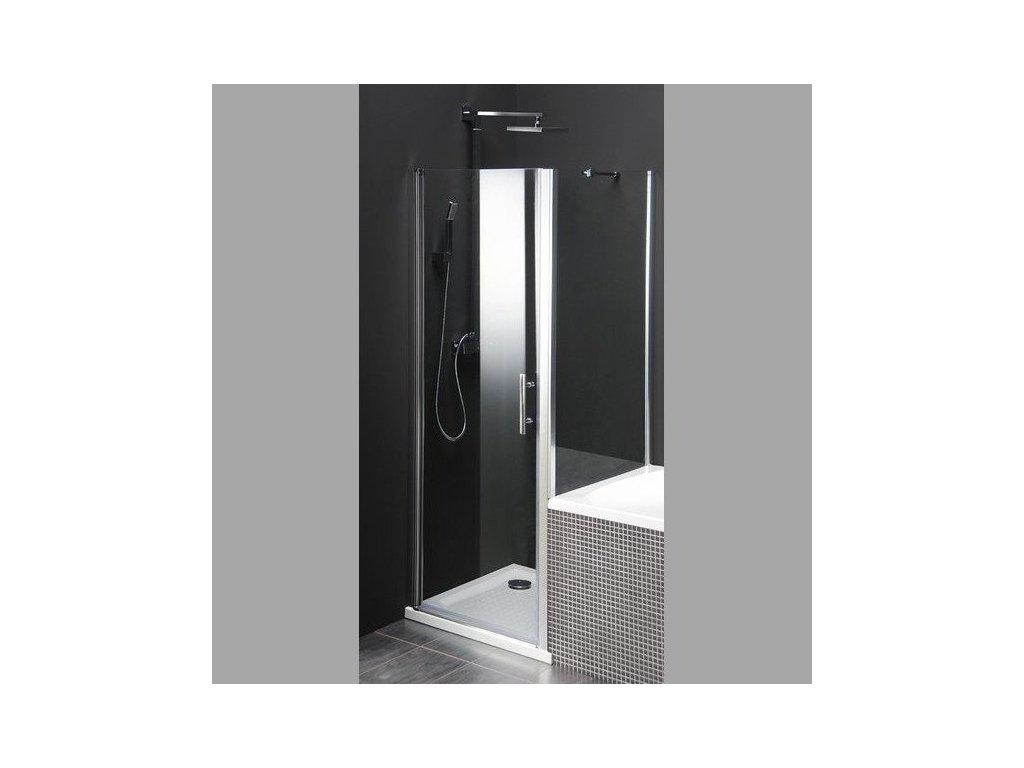 ONE sprchová zástěna oddělující vanu a sprchový kout, 800x800 mm, čiré sklo