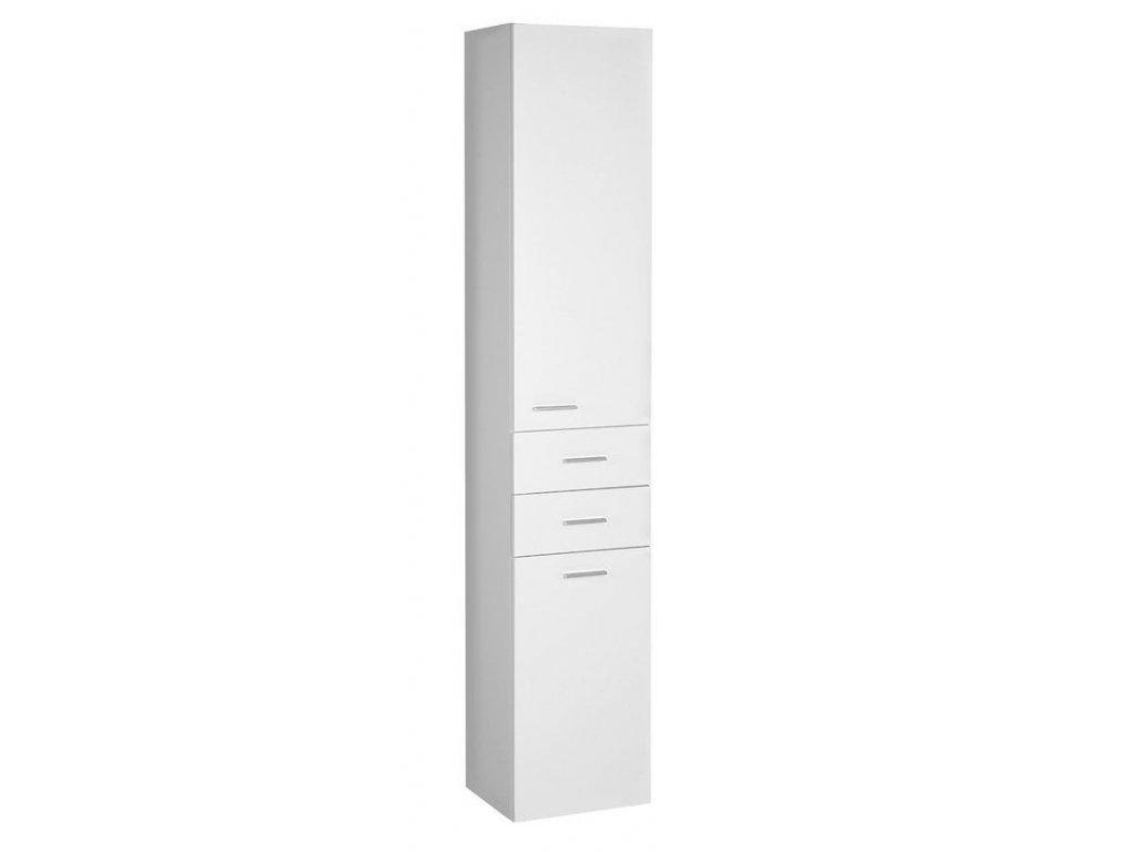 ZOJA/KERAMIA FRESH skříňka vysoká s košem 35x184x29cm, dub platin