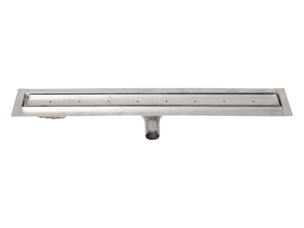 MANUS PIASTRA nerezový sprchový kanálek s roštem pro dlažbu, 1250x130x55 mm