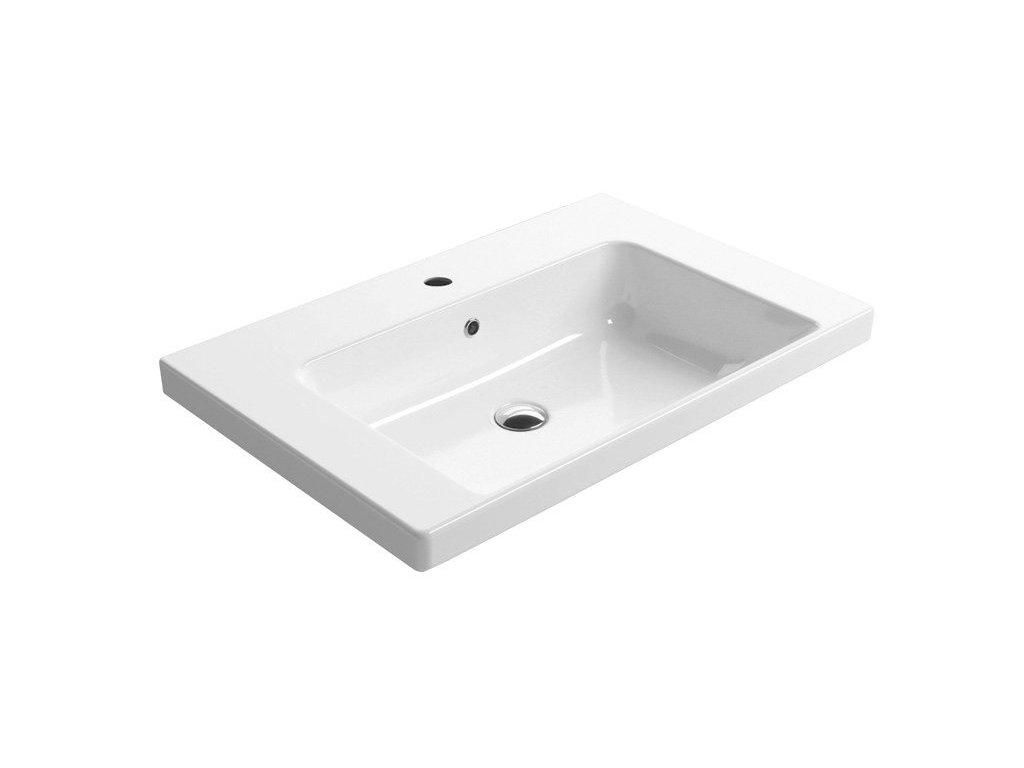 NORM keramické umyvadlo 75x18x50 cm, bílá ExtraGlaze
