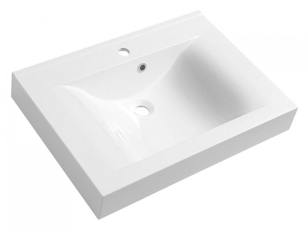 FLAVIA umyvadlo 70x50cm, litý mramor, bílá