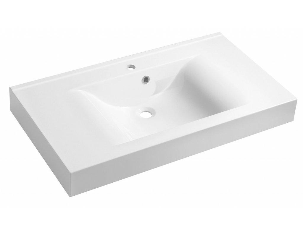 FLAVIA umyvadlo 90x50cm, litý mramor, bílá