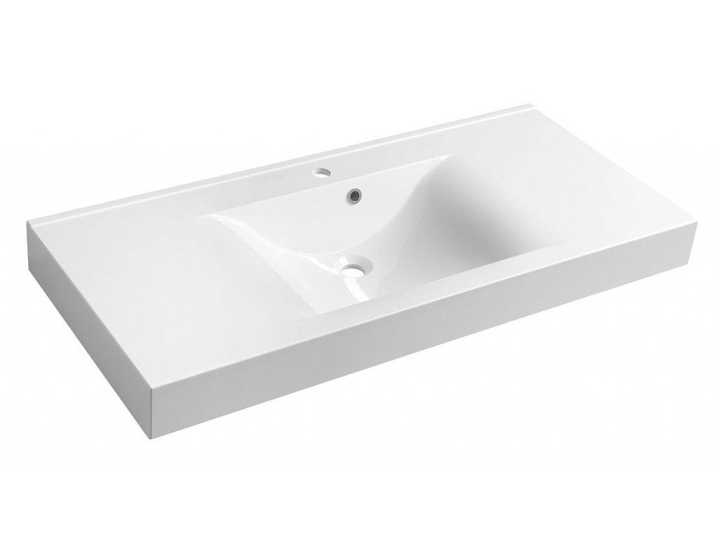 FLAVIA umyvadlo 110x50cm, litý mramor, bílá