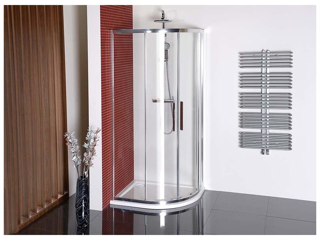 LUCIS LINE čtvrtkruhová sprchová zástěna 1200x900mm, pravá