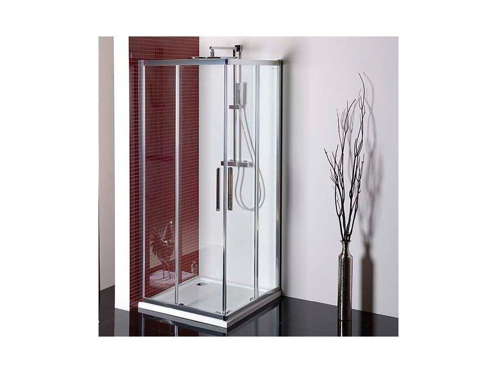 LUCIS LINE čtvercová sprchová zástěna 900x900mm, čiré sklo