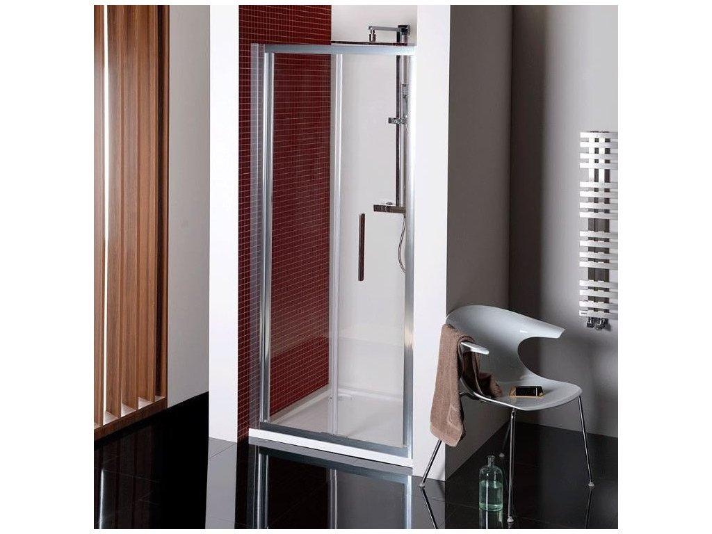 LUCIS LINE skládací sprchové dveře 800mm, čiré sklo