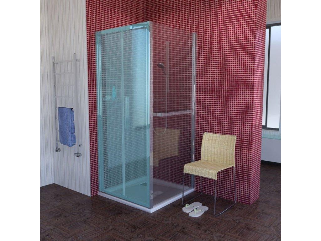 LUCIS LINE sprchová boční stěna 900mm, čiré sklo