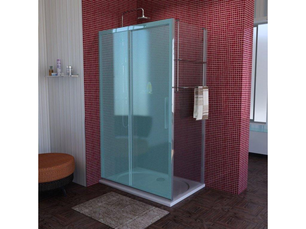 LUCIS LINE sprchová boční stěna 1000mm, čiré sklo