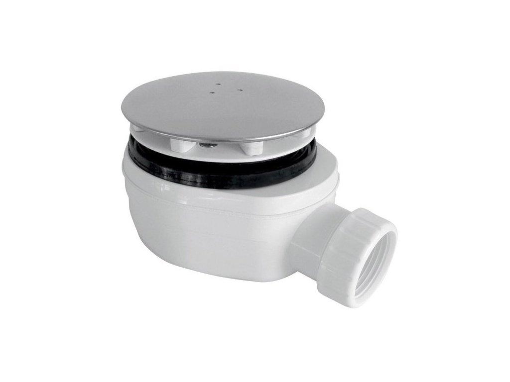 GELCO vaničkový sifon, průměr otvoru 90 mm, DN40, nízký, krytka leštěný nerez