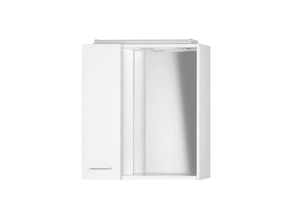 ZOJA/KERAMIA FRESH galerka s LED osvětlením, 60x60x14cm,dub platin , levá