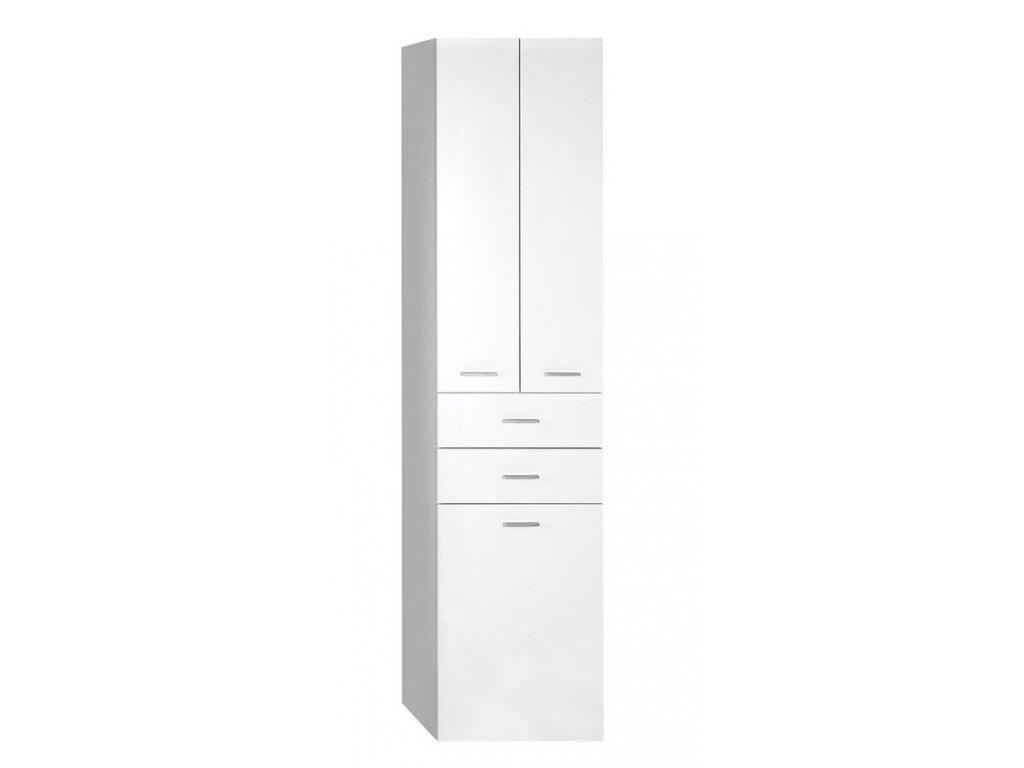 ZOJA/KERAMIA FRESH skříňka vysoká s košem 50x184x29cm, dub platin