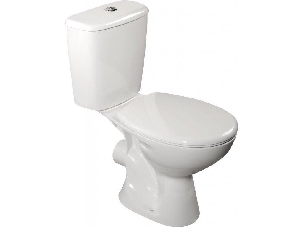 JUAN WC kombi, dvojtlačítko 3/6l, zadní odpad, bílá