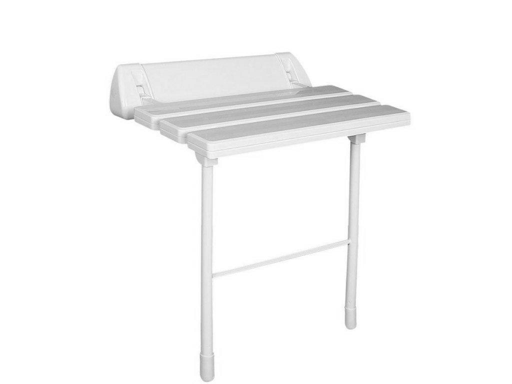 Sklopné sedátko do sprchového koutu s podpěrou, bílá