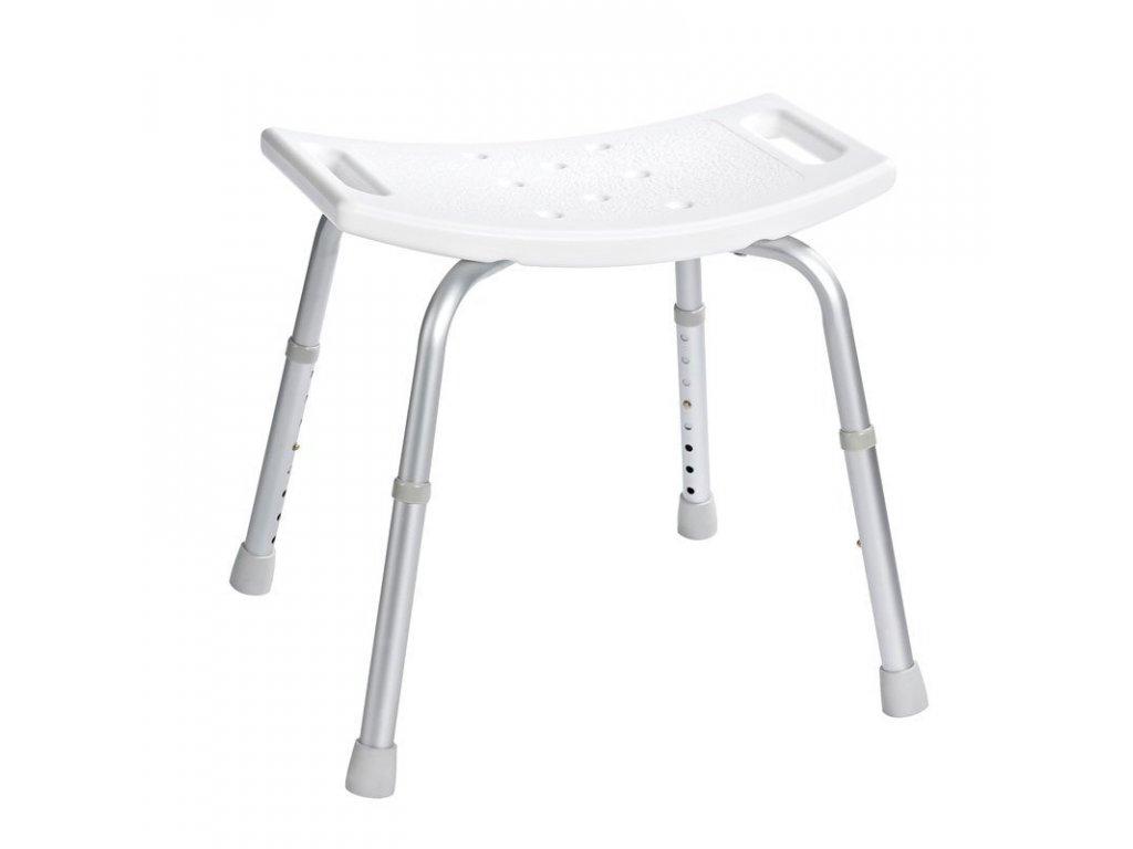 Stolička, nastavitelná výška, bílá