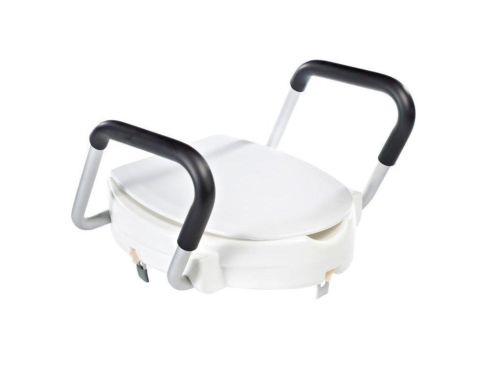 WC sedátko zvýšené 10cm, s madly, bílá