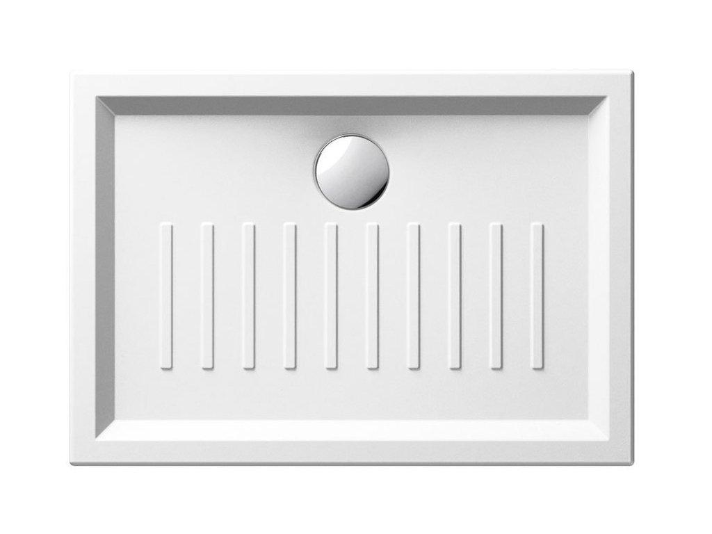 Keramická sprchová vanička, obdelník 100x70x6cm