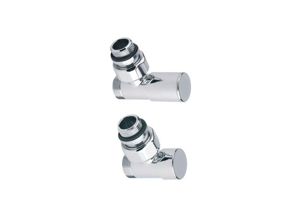 COMPACT připojovací sada ventilů ruční rohová, chrom