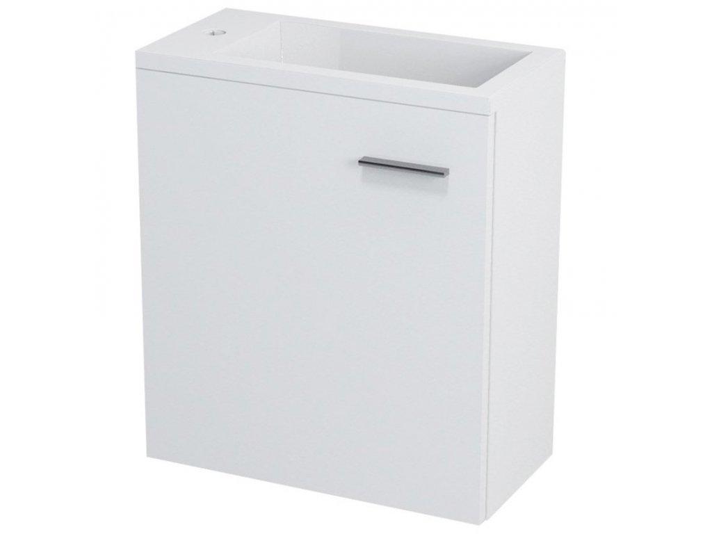 LATUS III umyvadlová skříňka 45x50x23,2cm, bílá