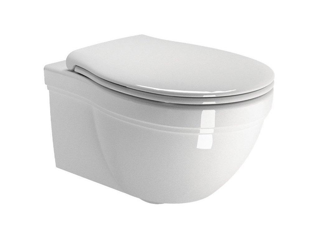 CLASSIC závěsná WC mísa, 37x55 cm, bílá ExtraGlaze