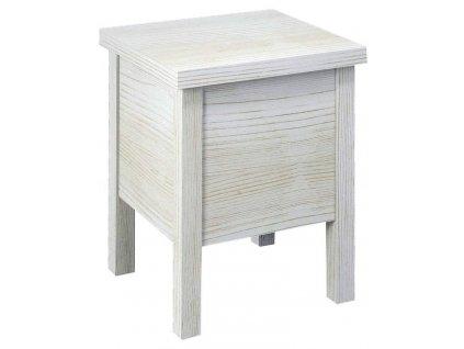 BRAND stolička s úložným prostorem 35x46x35cm, starobílá
