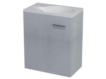 LATUS II umyvadlová skříňka 41,6x50x25 cm, dub stříbrný
