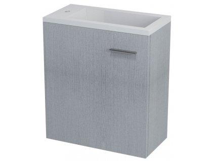 LATUS III umyvadlová skříňka 45x50x23,2cm, dub stříbrný