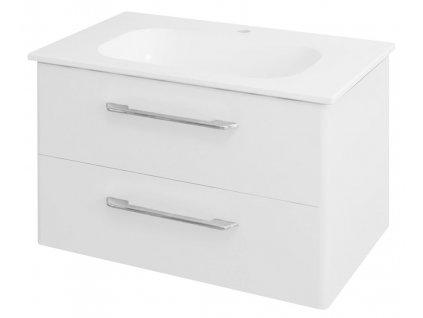 PURA umyvadlová skříňka 77x50,5x48,5cm, bílá