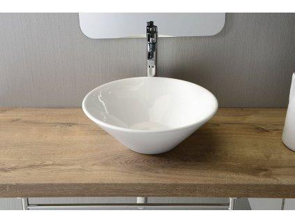 COMILLAS keramické umyvadlo 42x15 cm, na desku