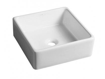 UBEGA keramické umyvadlo 38x13,5x38 cm, na desku