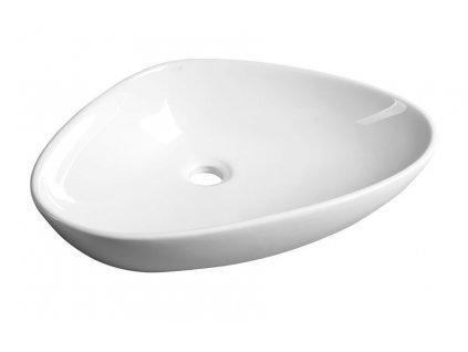 TERUEL keramické umyvadlo 58,5x14x39 cm, na desku