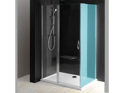 ONE sprchové dveře s pevnou částí 900 mm, čiré sklo