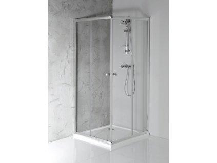 AGGA čtvercová sprchová zástěna 800x800mm, čiré sklo